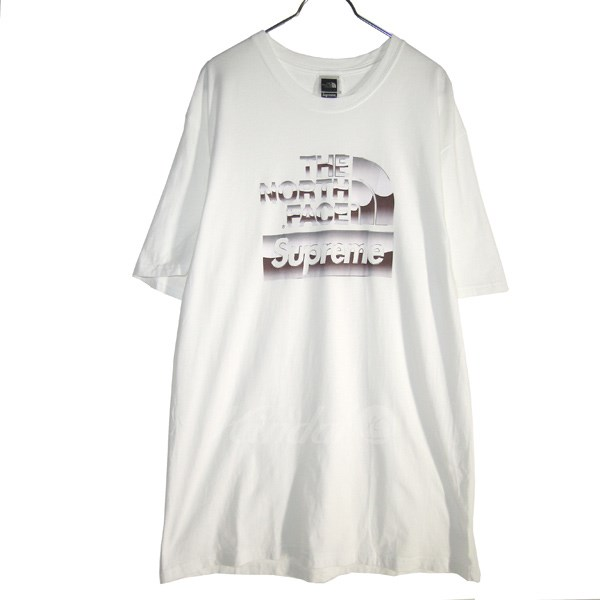 5a833409b SUPREME X THE NORTH FACE 2018SS Metallic Logo Tee white size: M (シュプリーム X  North Face)