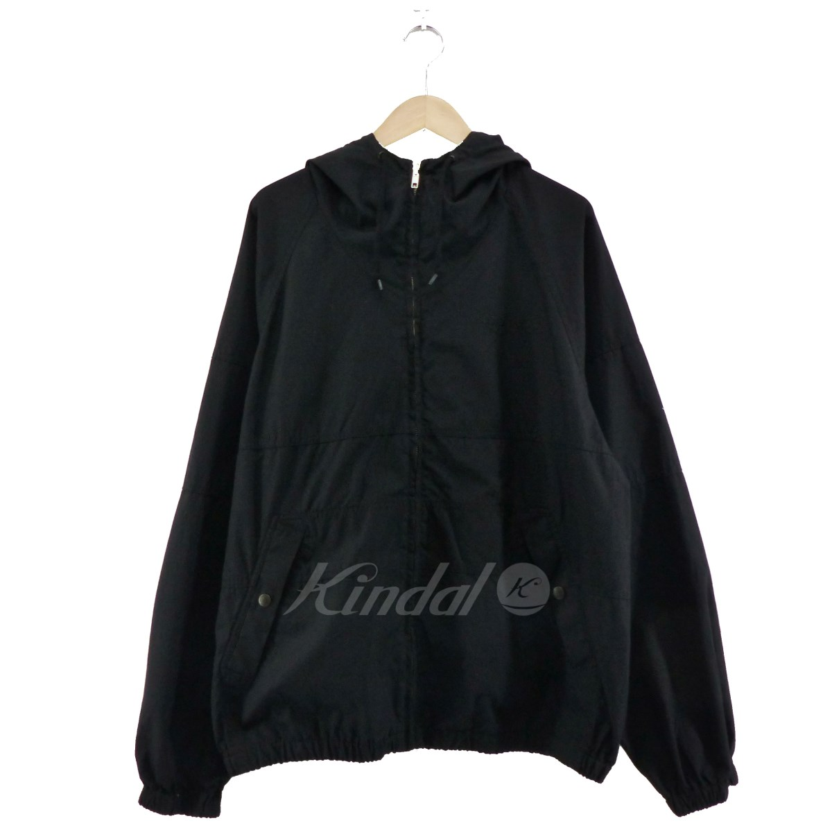 【中古】SUPREME 2018SS Cotton Hooded Raglan Jacket ブラック サイズ:L 【160519】(シュプリーム)