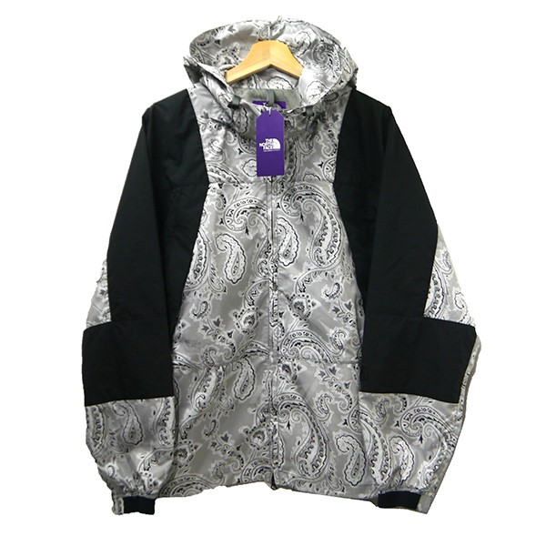 58fd6b6e3 THE NORTH FACE PURPLE LABEL 2019SS Paisley Print Mountain Wind Parka  NP2915N gray X black size: M
