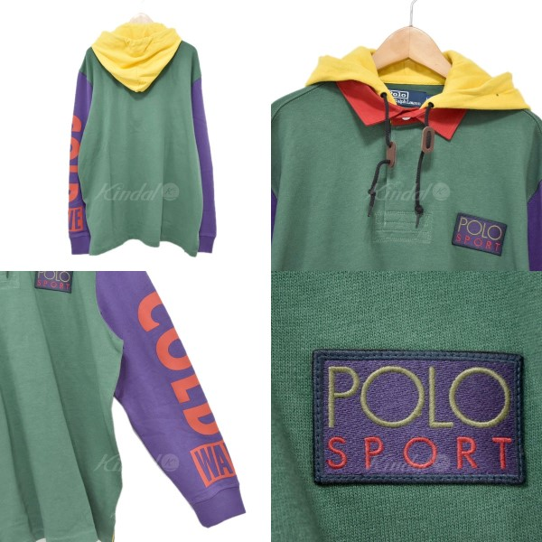Polo SizeLpolo Parka Pullover Lauren Multicolored Hooded Snow Rugby Beach Ralph Lauren 5j43ARL
