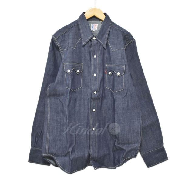 【中古 Shirt】LEVIS VINTAGE CLOTHING ウエスタンデニムシャツ インディゴ Sawtooth Denim Shirt Sawtooth 07205-0029 インディゴ サイズ:M【210519】(リーバイスヴィンテージクロージング), メガネのウエムラ:9d4cf8ee --- djcivil.org