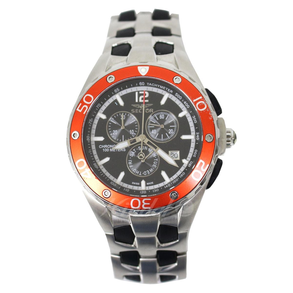 【中古】SECTOR 350 クロノグラフ 腕時計 電池式 レッド、シルバー他 サイズ:- 【210519】(セクター)