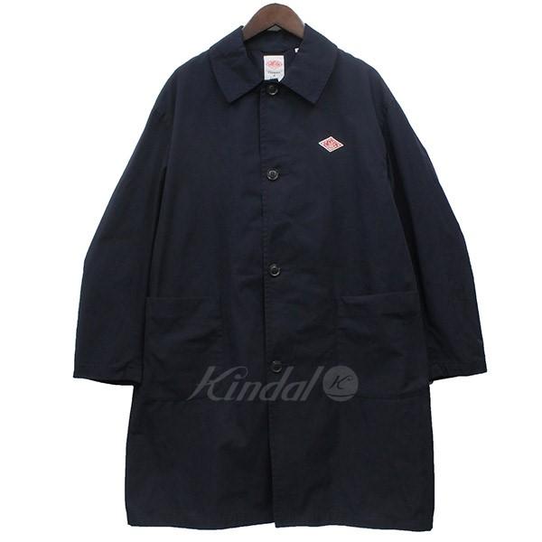 【中古】DANTON ルーズフィットシングルロングコート コート ネイビー サイズ:40 【210519】(ダントン)