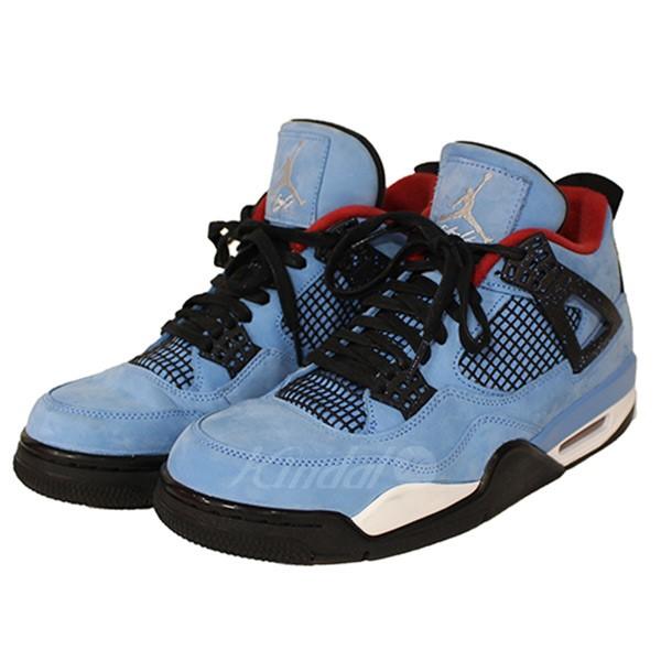 low priced 42bcf 50667 NIKE X TRAVIS SCOTT AIR JORDAN 4 RETRO 308,497-406 Air Jordan 4 sneakers sky  ...