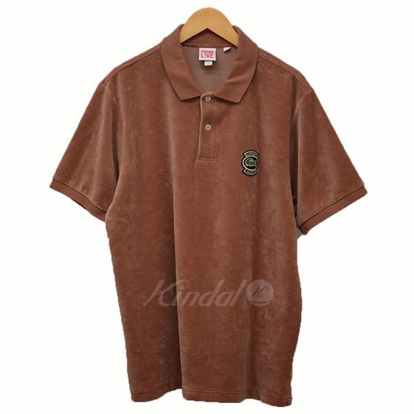 【中古】Supreme×LACOSTE 2018SS Velour Polo ベロア ポロシャツ ピンク サイズ:XL 【210519】(シュプリーム×ラコステ)