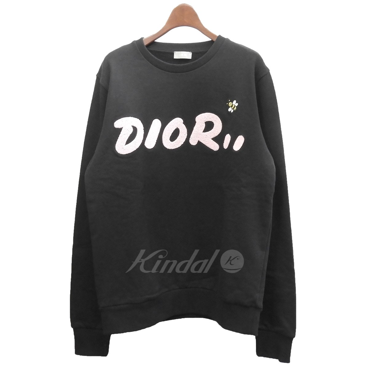 88b761ac Dior X KAWS 2019SS BEE embroidery sweat shirt trainer black size: S (Dior  cows ...