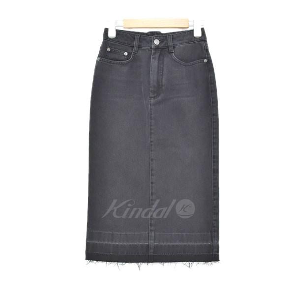 【中古】GIVENCHY カットオフ デニムスカート ブラック サイズ:34 【240519】(ジバンシィ)