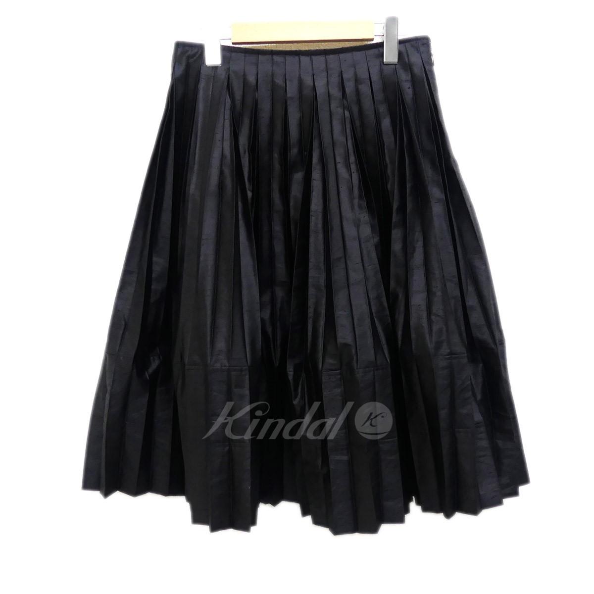 【中古】JUNYA WATANABE CdG 2018S/S プリーツスカート ブラック サイズ:M 【240519】(ジュンヤワタナベコムデギャルソン)