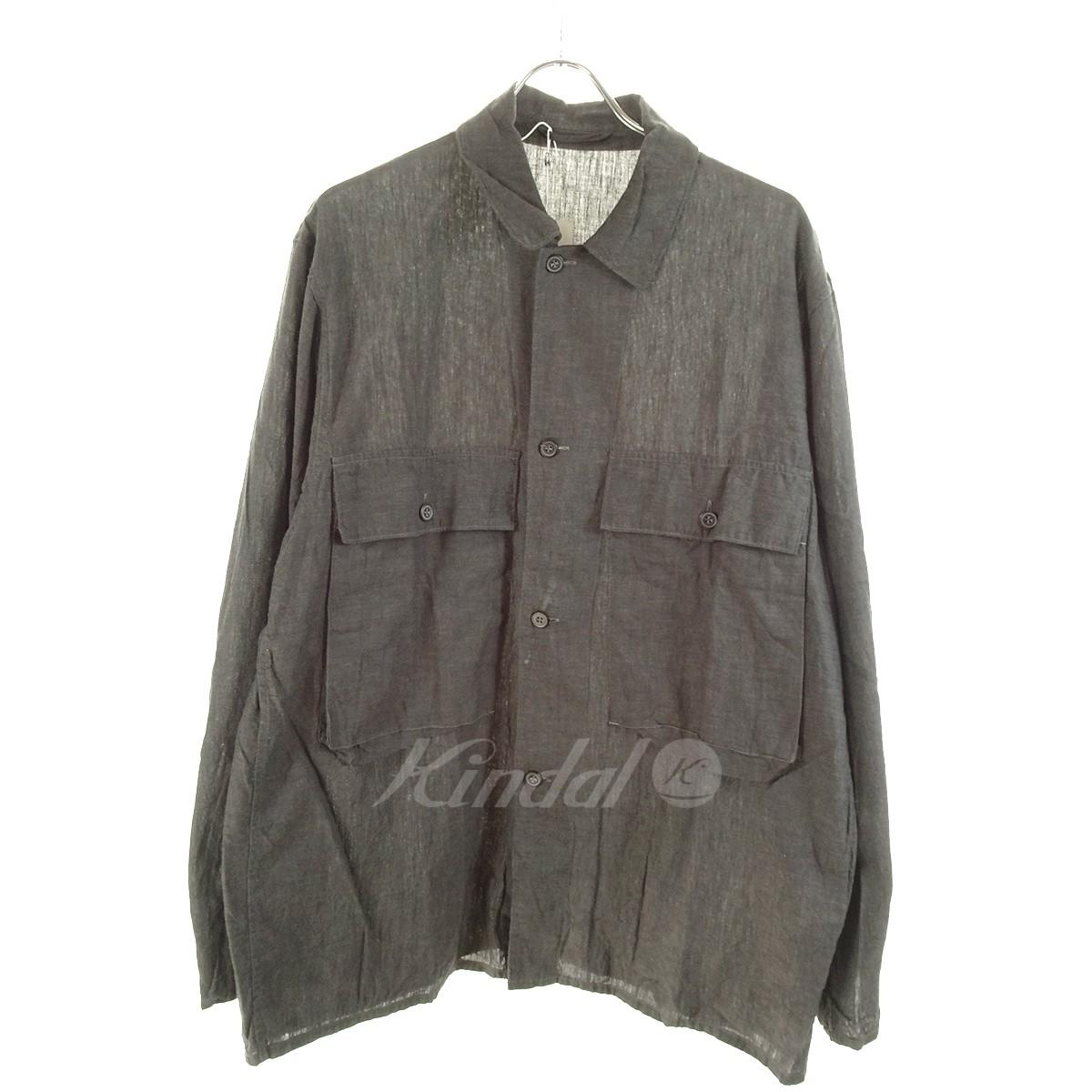 【中古】COMOLI ベタシャンユーティリティジャケット 17SS グレー サイズ:3 【240519】(コモリ)