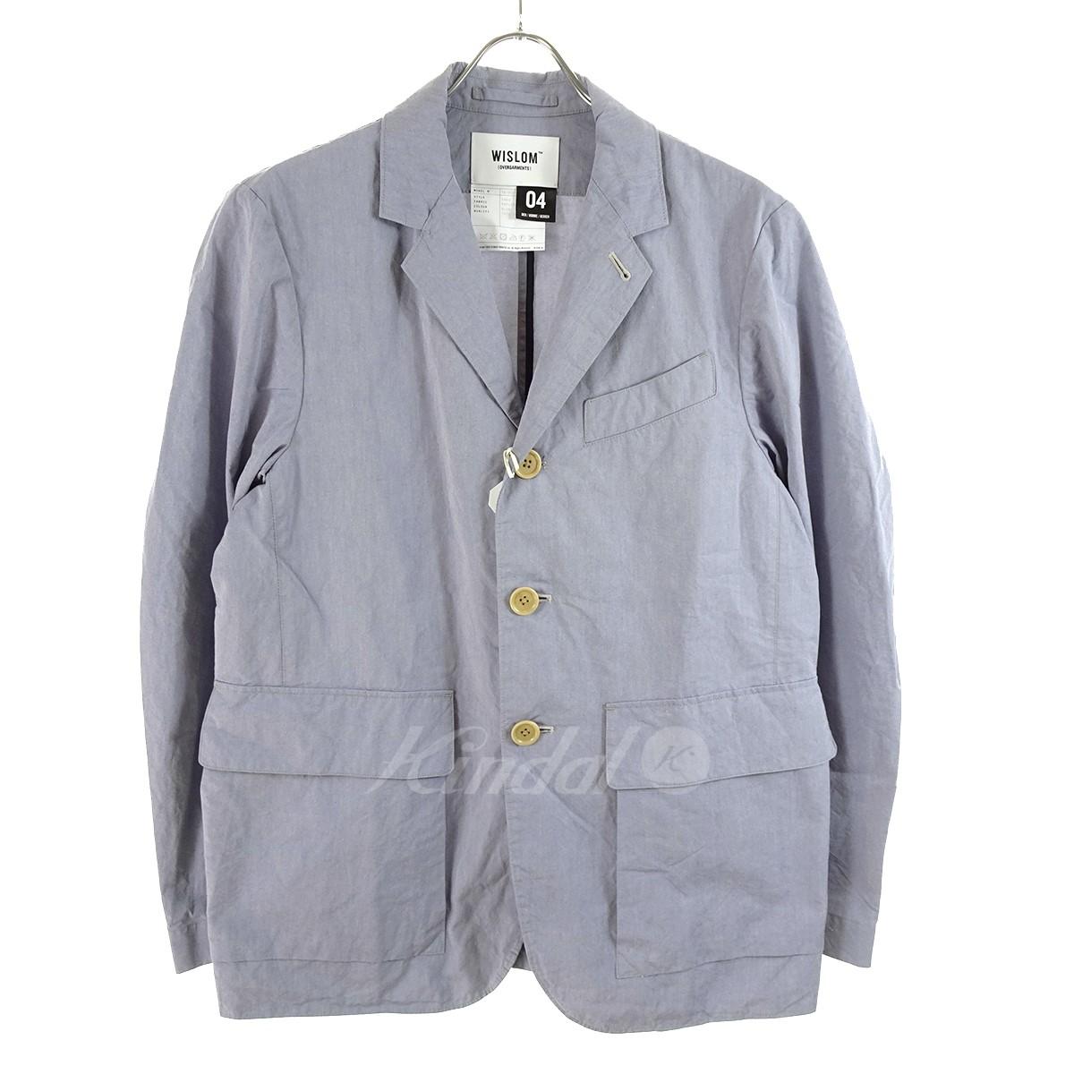 【中古】WISLOM THEO ワークジャケット 18SS ブルー サイズ:4 【240519】(ウィズロム)