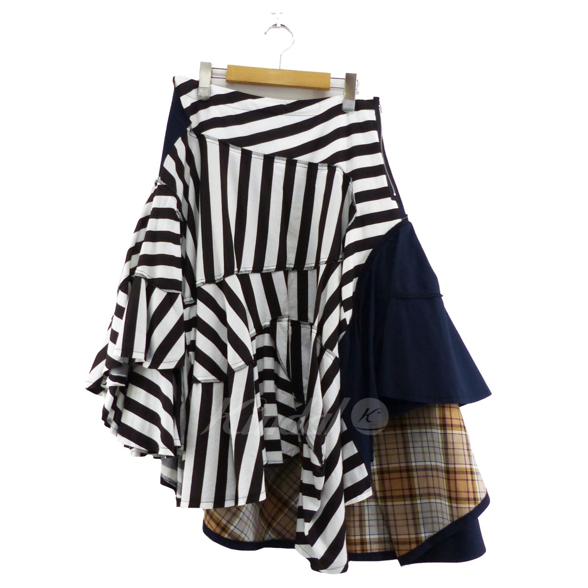 【中古】tricot COMME des GARCONS 2019SS クレイジーパターンスカート マルチカラー サイズ:M 【240519】(トリココムデギャルソン)