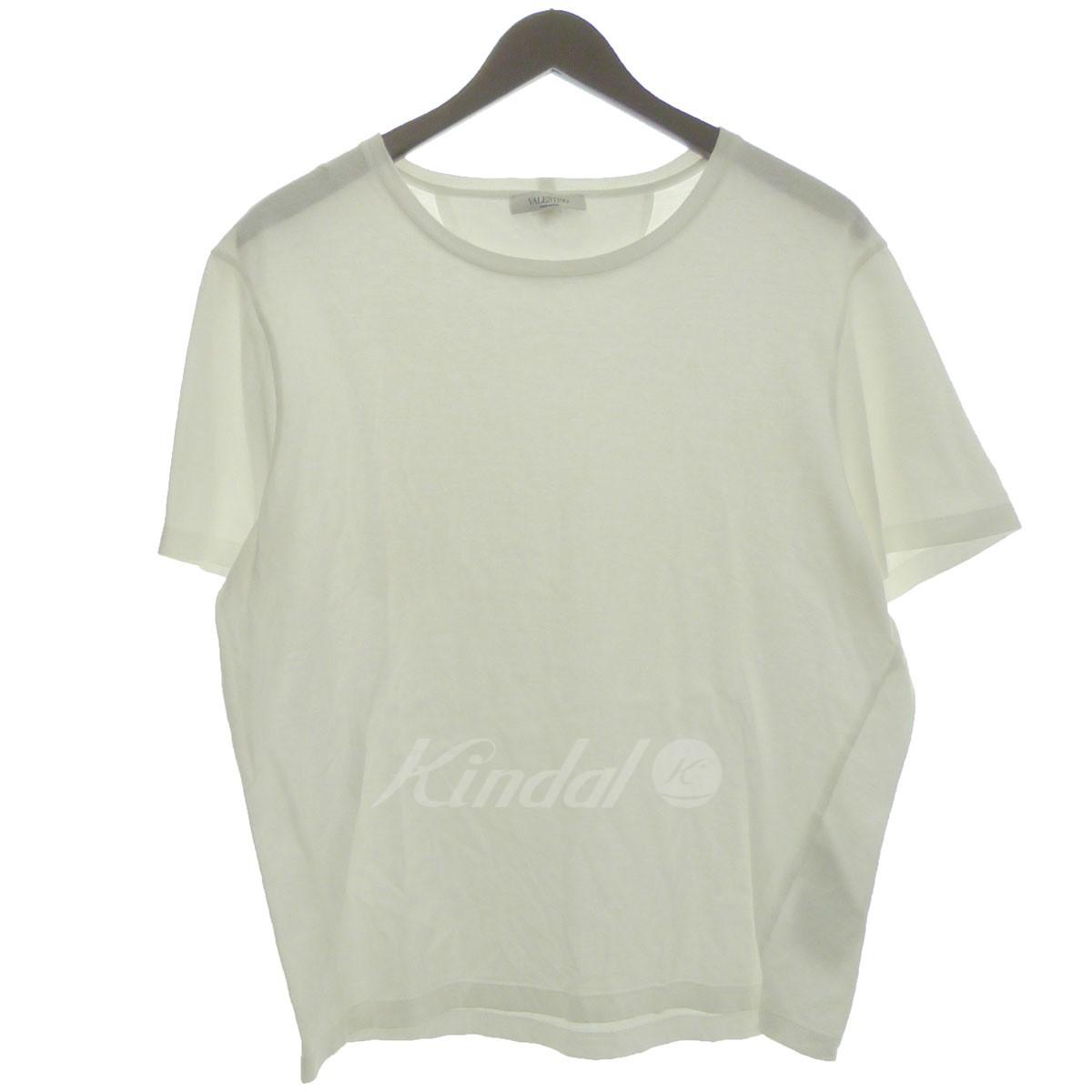 【中古】VALENTINO ロックスタッズTシャツ ホワイト サイズ:M 【240519】(ヴァレンチノ)