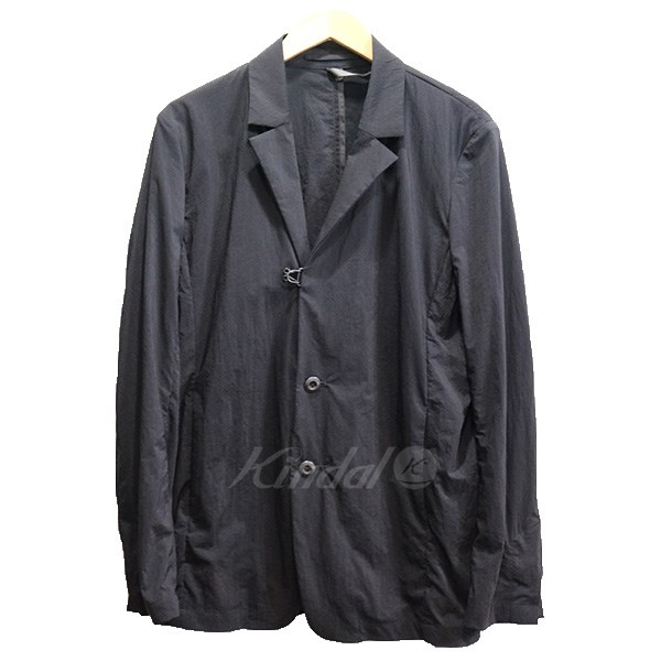 【中古】KAZUYUKI KUMAGAI ATTACHMENT 18SS ナイロンストレッチタフタ テーラードジャケット ブラック サイズ:2 【240519】(カズユキクマガイアタッチメント)