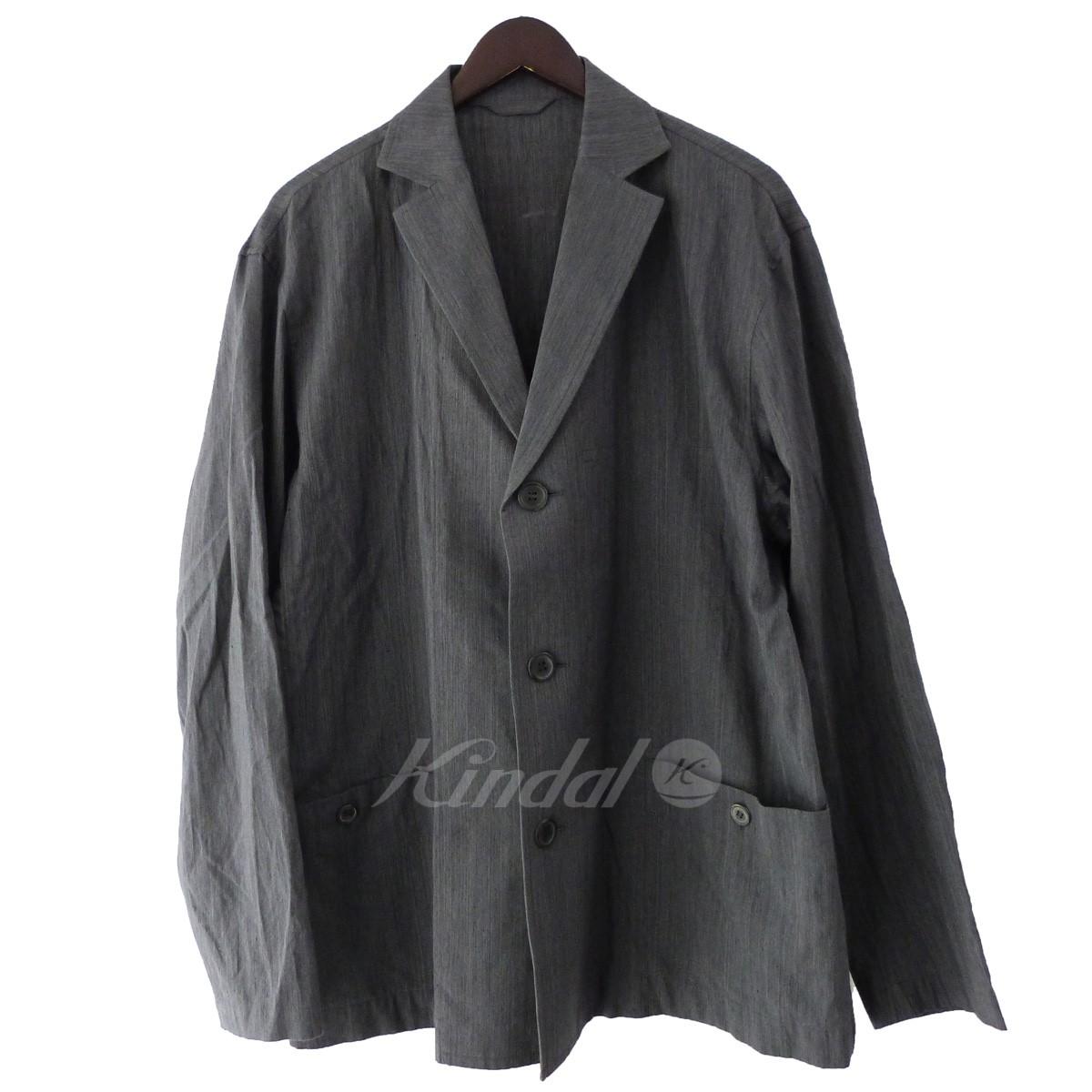 【中古】ISSEY MIYAKE MEN 17AW ノッチドラペル3Bジャケット グレー サイズ:3 【250519】(イッセイミヤケメン)