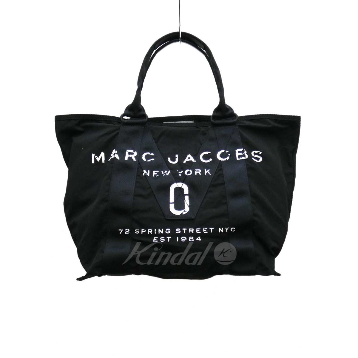 【中古】MARC JACOBS ニューロゴトートバッグ 2018A/W ブラック 【280519】(マークジェイコブス)