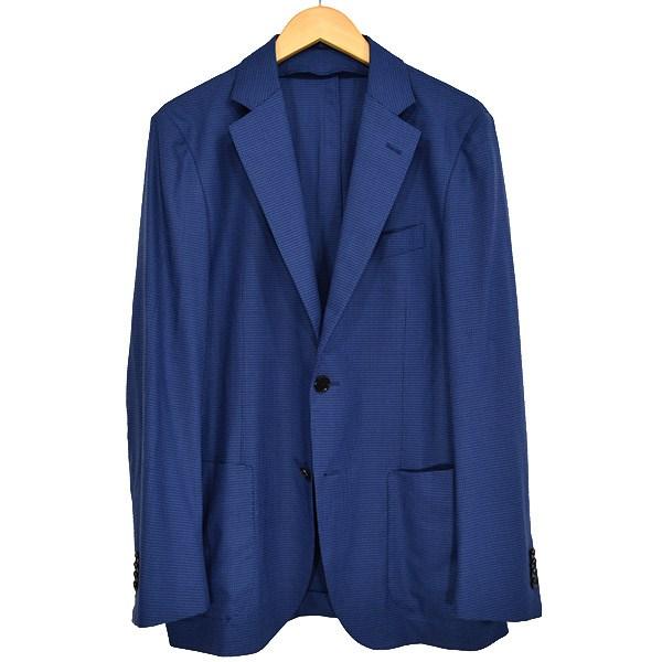 【中古】TOMORROWLAND PILGRIM Loro Piana THE WAVE 2Bジャケット ブルー×ネイビー サイズ:48 【280519】(トゥモローランドピルグリム)