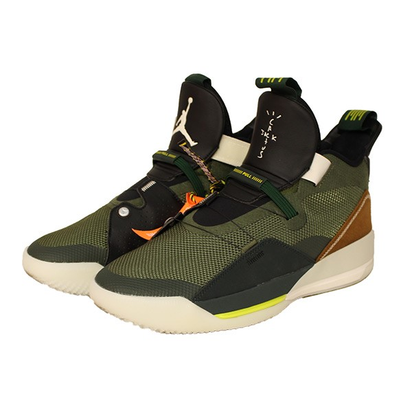 no sale tax speical offer hot sale online NIKE X TRAVIS SCOTT AIR JORDAN 33 NRG Air Jordan 33 sneakers olive size:  28cm (Nike Travis Scot)