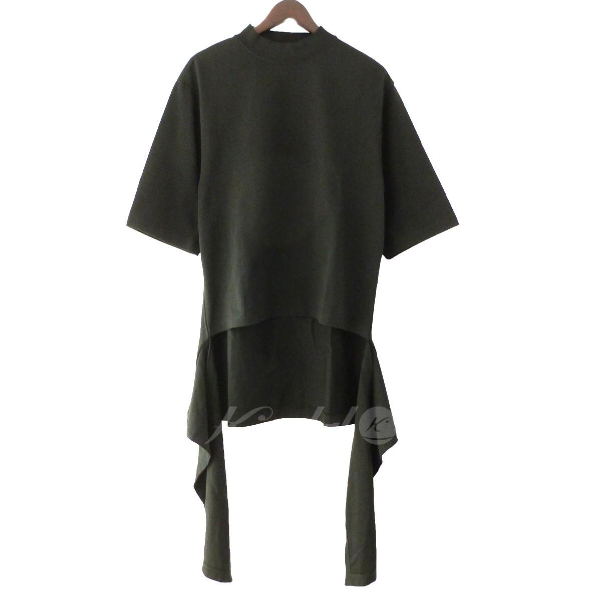 【中古】BALENCIAGA裾カッティングTシャツ ブラック サイズ:S