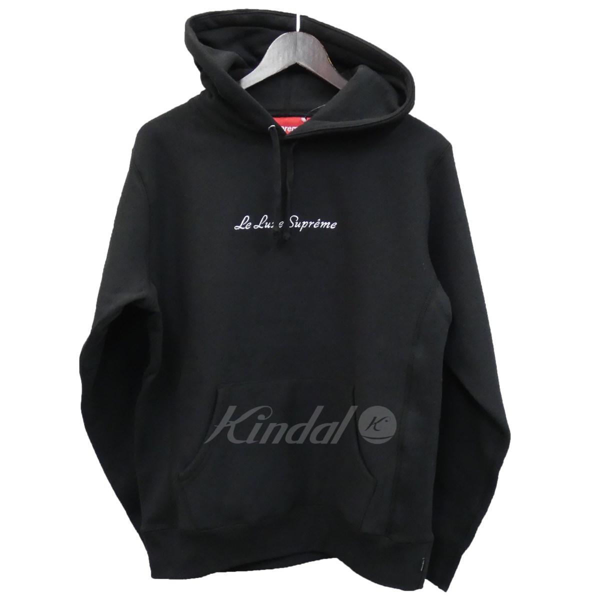 【中古】SUPREME 19SS「Le Luxe Hooded Sweatshirt」プルオーバーパーカー ブラック サイズ:S 【310519】(シュプリーム)