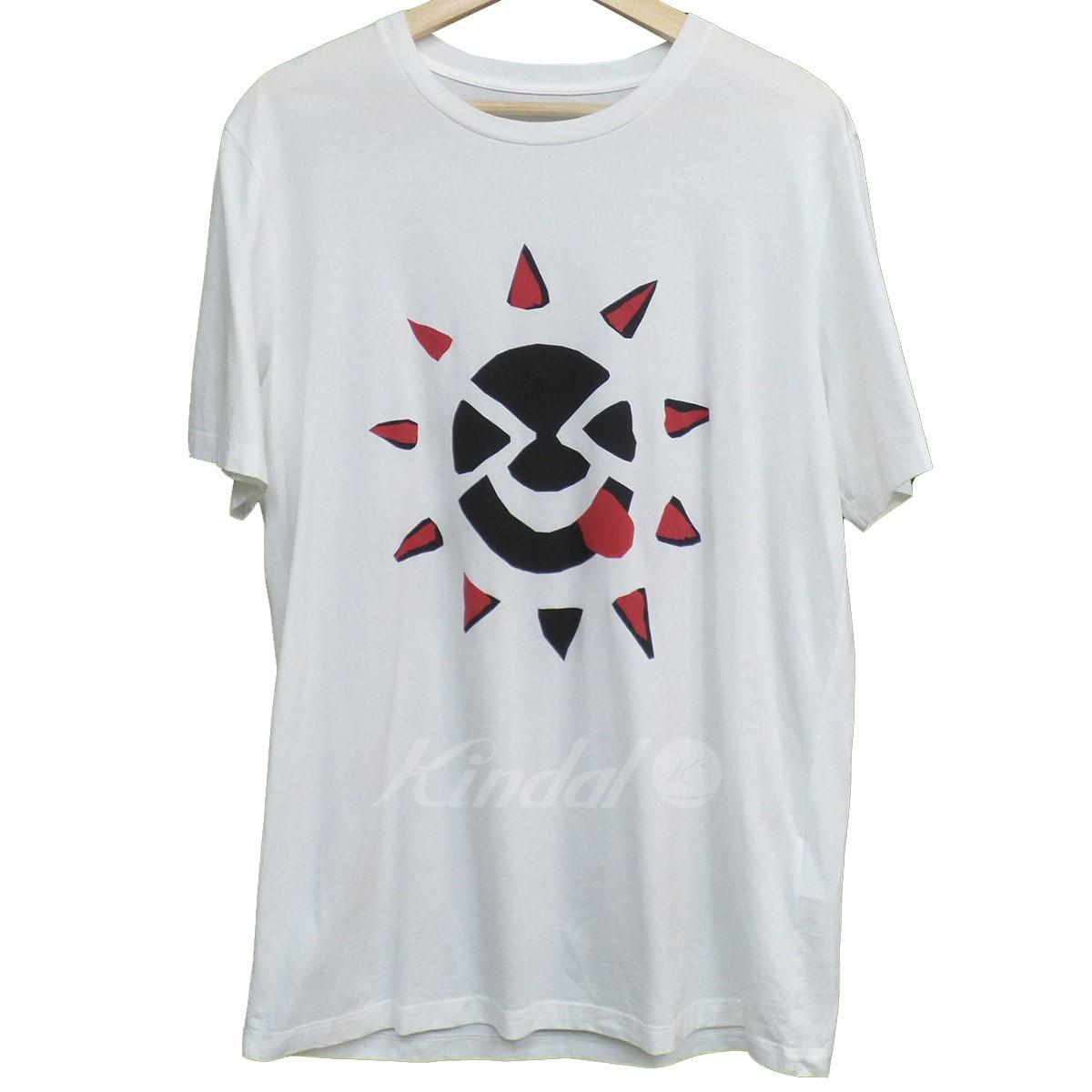【中古】Maison Margiela10 18SS プリントTシャツ ホワイト サイズ:48 【010619】(メゾンマルジェラ10)