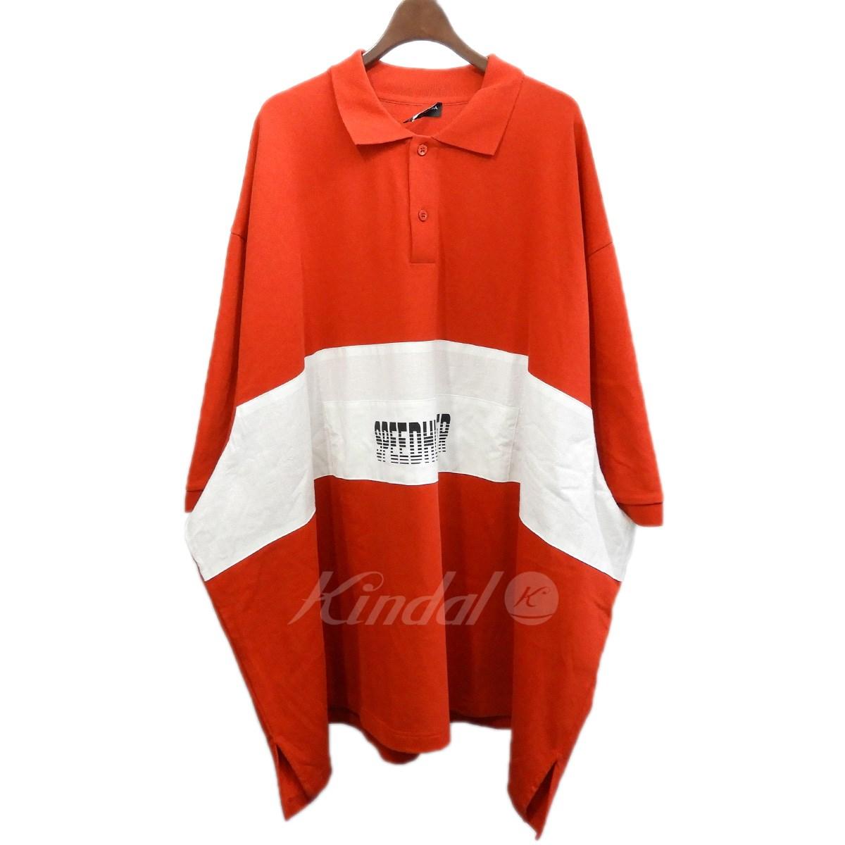 【中古】BALENCIAGA 2018SS SPEED HUNTERポロシャツ レッド サイズ:L 【020619】(バレンシアガ)