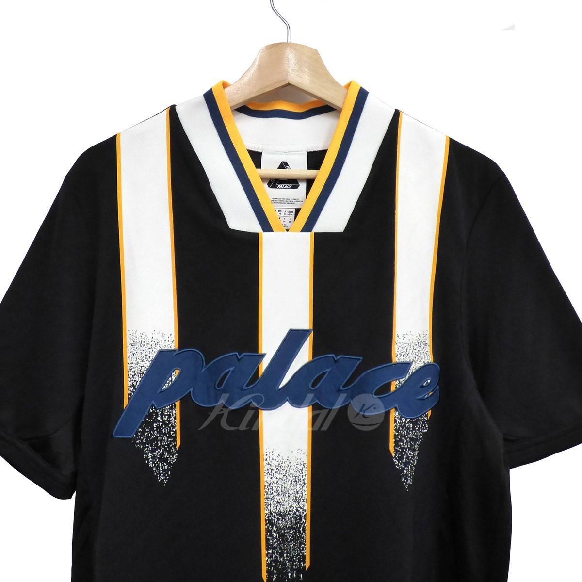 【中古】PALACE×adidas 14SS Team Away TopユニフォームトップTシャツ ブラック サイズ:M 【010619】(パレス アディダス)