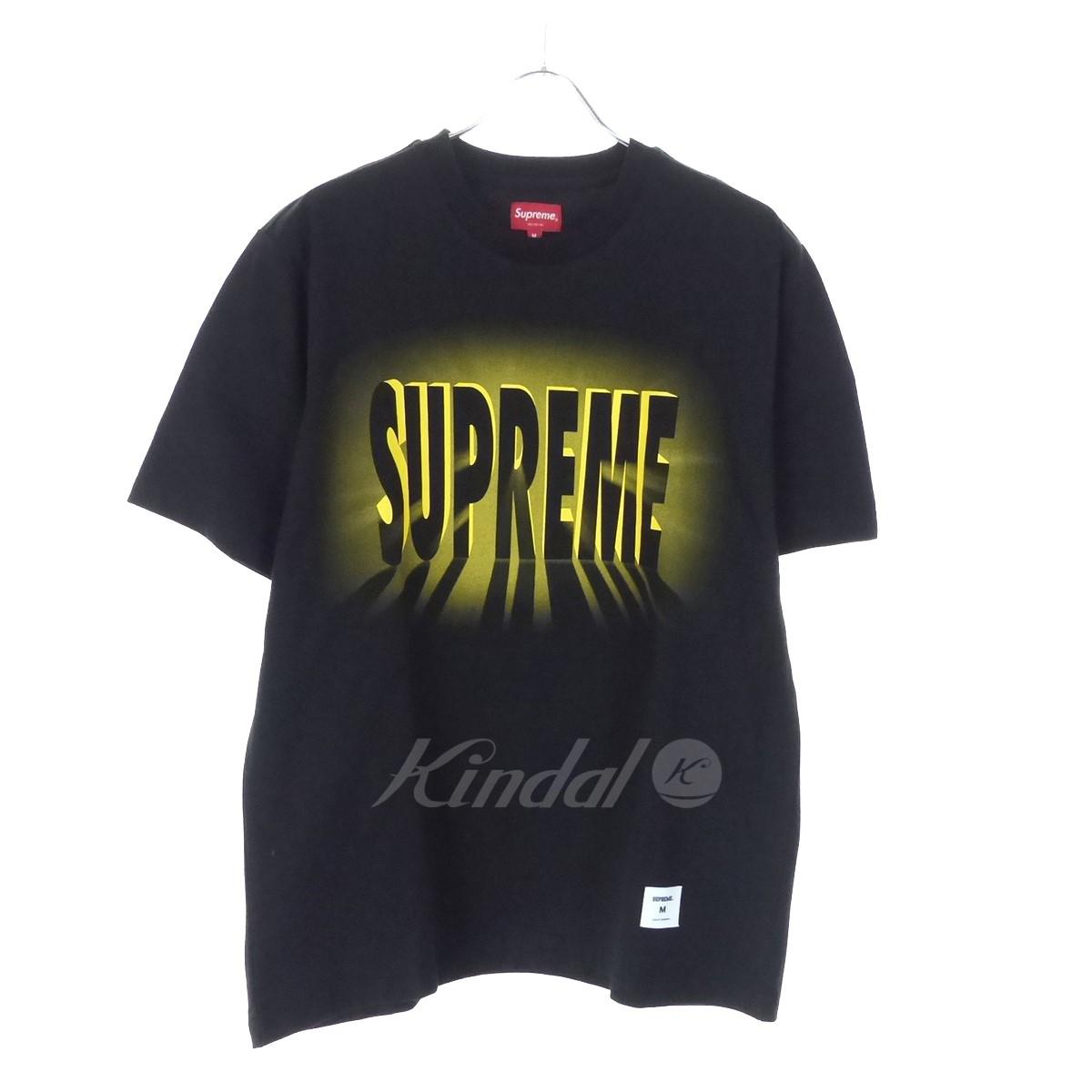【中古】SUPREME 「Light S/S Top」 ロゴプリントTシャツ 18AW ブラック サイズ:M 【020619】(シュプリーム)