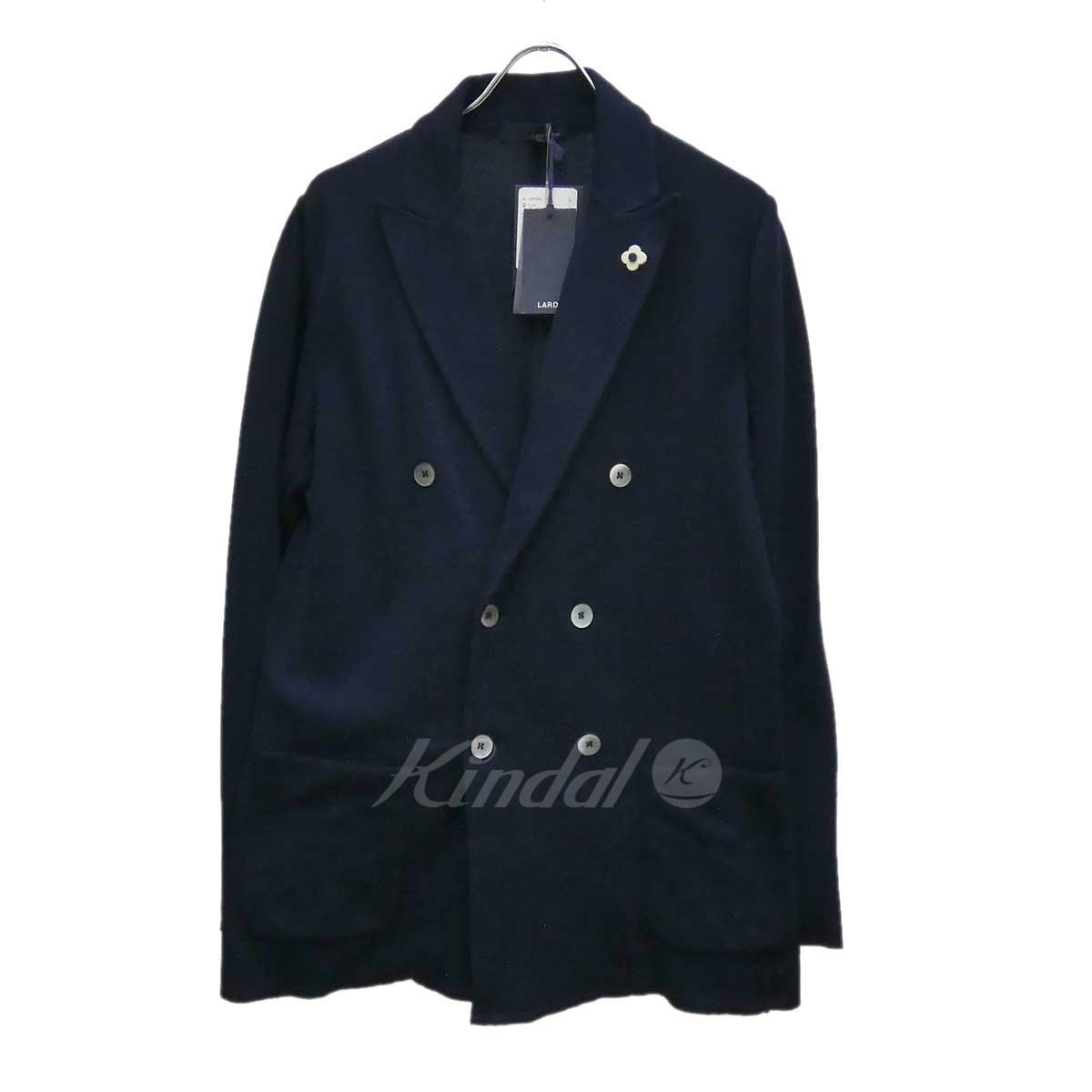 【中古】LARDINI ダブルニットジャケット ガーメントケース ネイビー サイズ:S 【020619】(ラルディーニ)