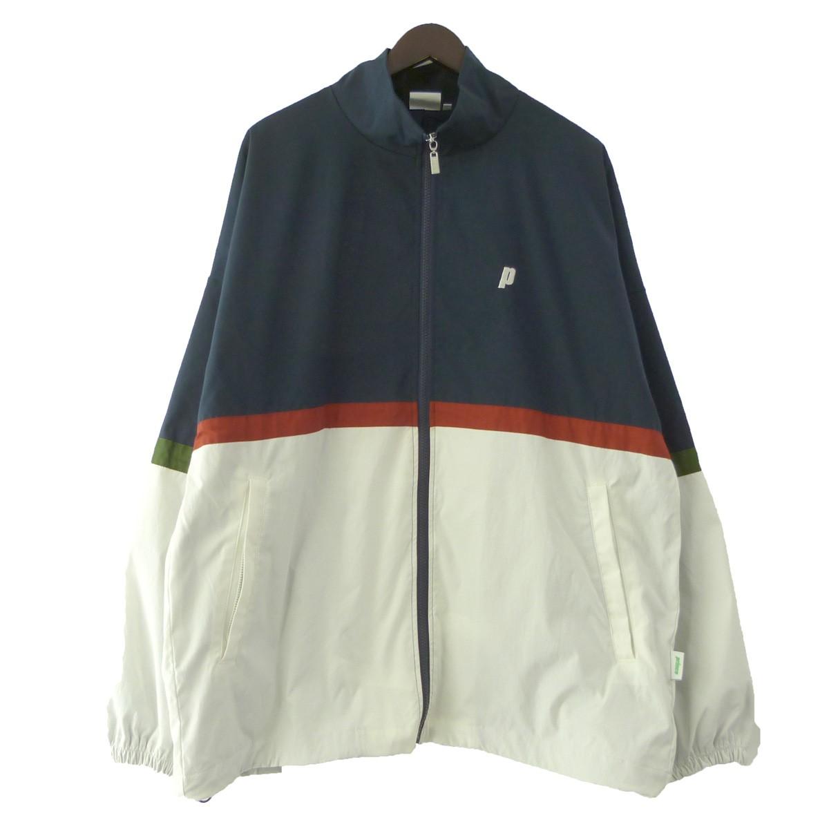 【中古】MIN-NANO × Prince × BEAMS T 「Zip Jacket」ジップジャケット ネイビー×ホワイト サイズ:L 【030619】(ミンナノ プリンス ビームス)