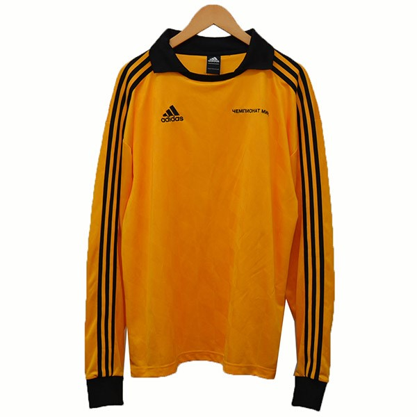 Gosha Rubchinskiy X adidas football polo shirt game shirt jersey shirt yellow X black size: S (go Schalla butyne ski X Adidas)
