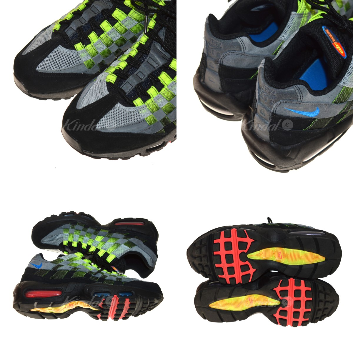 NIKE AIR MAX 95 WOVEN sneakers black size: 26. 5