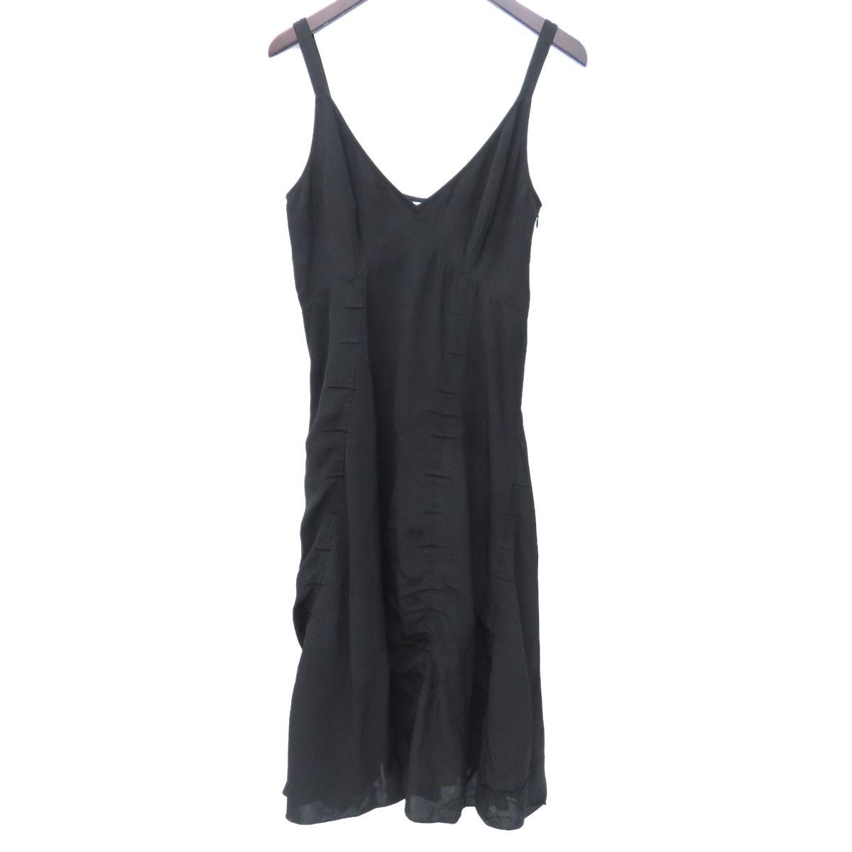 【中古】ACNE STUDIOSノースリーブスリップドレス キャミソールワンピース ブラック サイズ:36 【3月30日見直し】