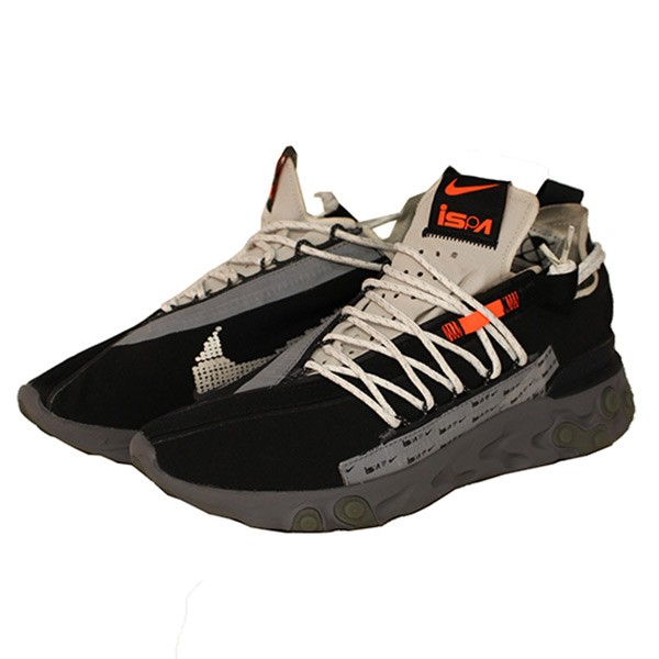 NIKE REACT WR ISPA re,act runner low,frequency cut sneakers black size 27.  5cm (Nike)