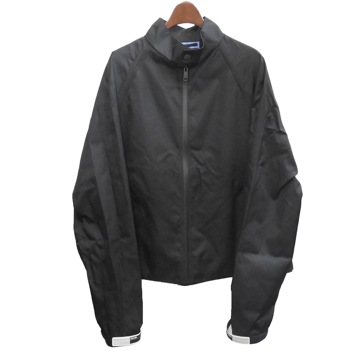 【中古】PRADA 2018SS ナイロンギャバジンジャケット ブラック サイズ:L 【250619】(プラダ)