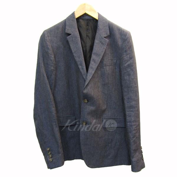 【中古】AMI Alexandre Mattiussiリネンテーラードジャケット ネイビー サイズ:46【3月2日見直し】