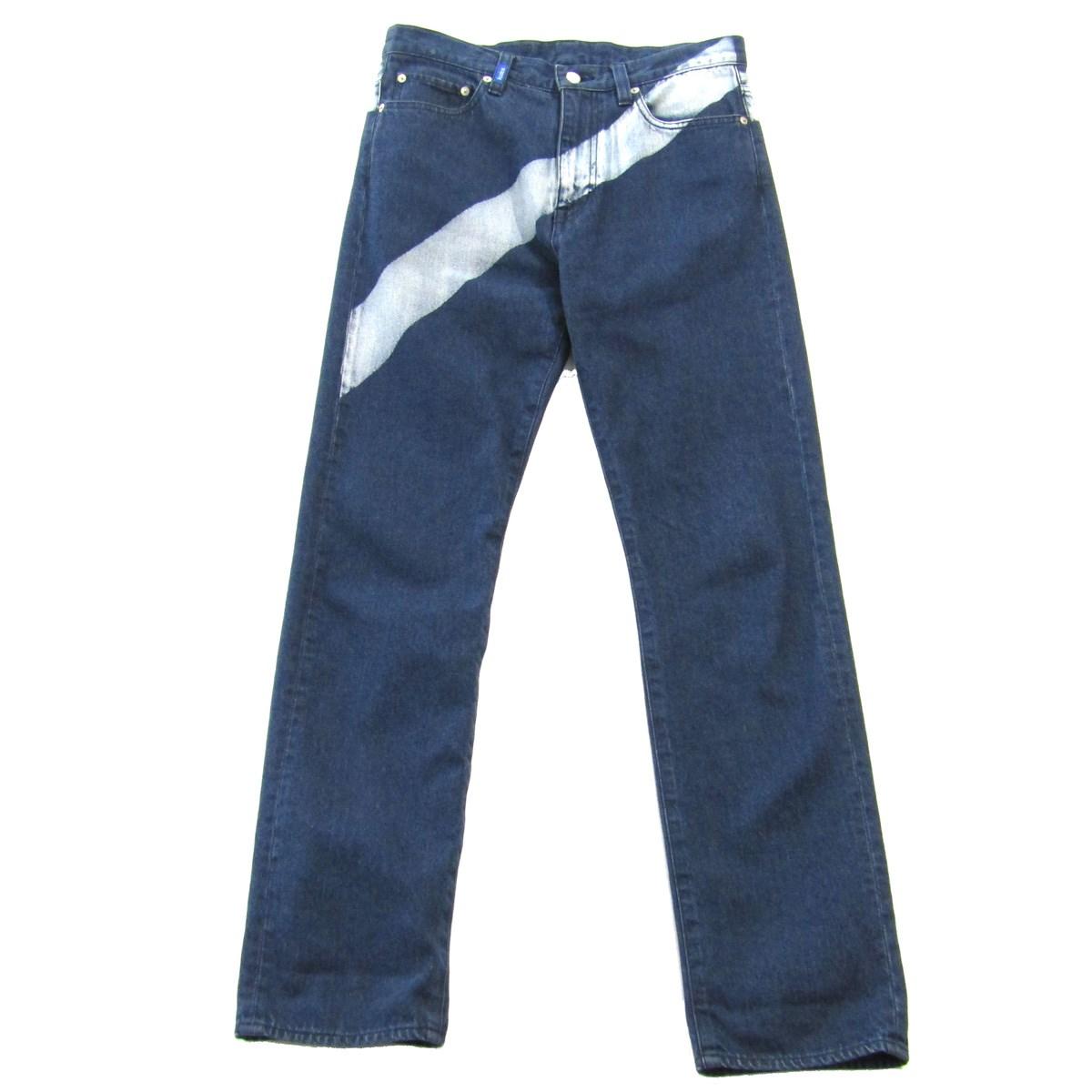 【10月17日 お値段見直しました】【中古】KUDOS2019SS Blue Print LINED DENIM TROUSERS デニムパンツ ブルー サイズ:2