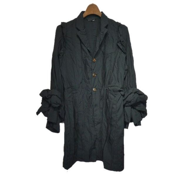 【中古】COMME des GARCONS2018AW ボリューム袖デザインジャケット ブラック サイズ:S