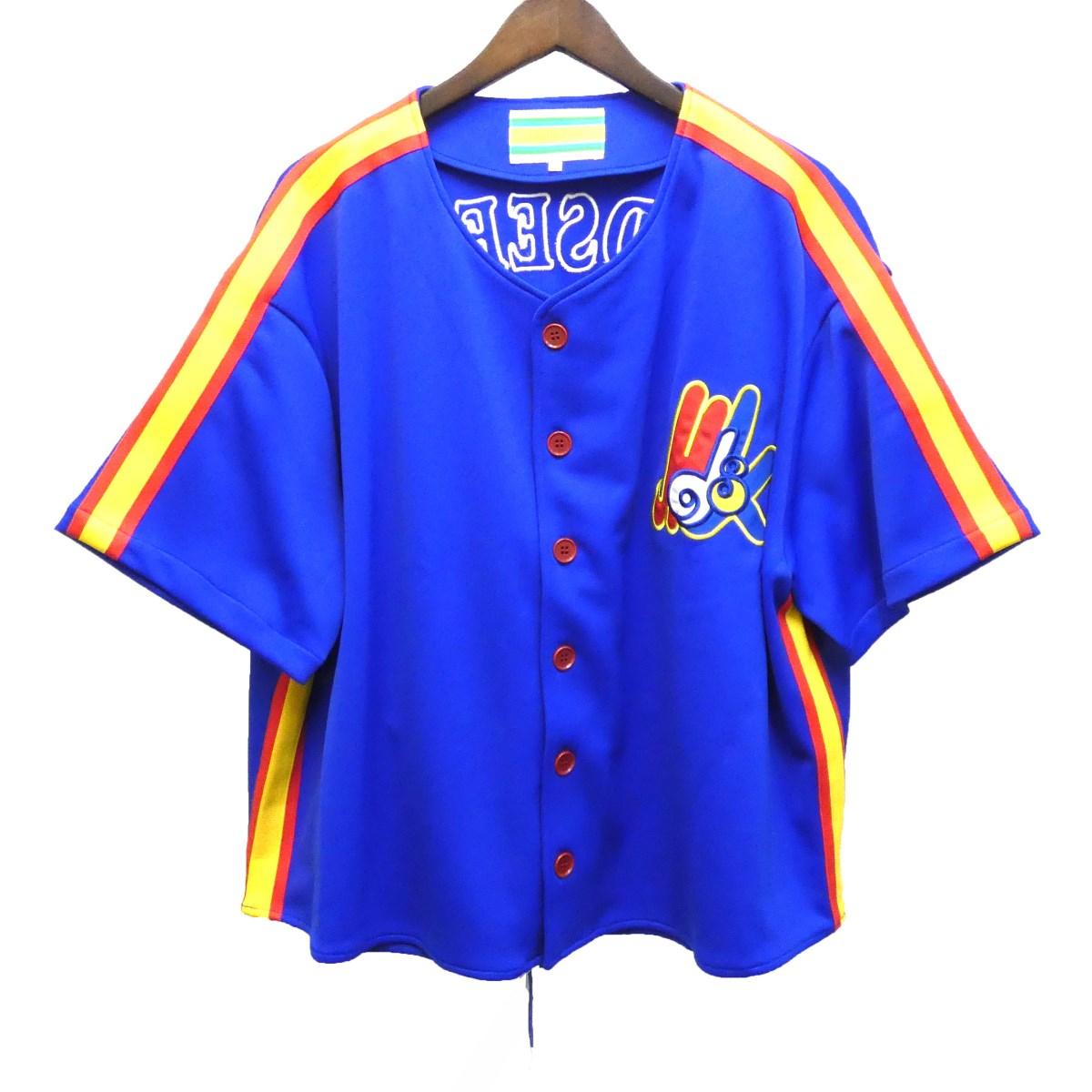 【中古】MINDSEEKER18SS ベースボールシャツ ブルー サイズ:S