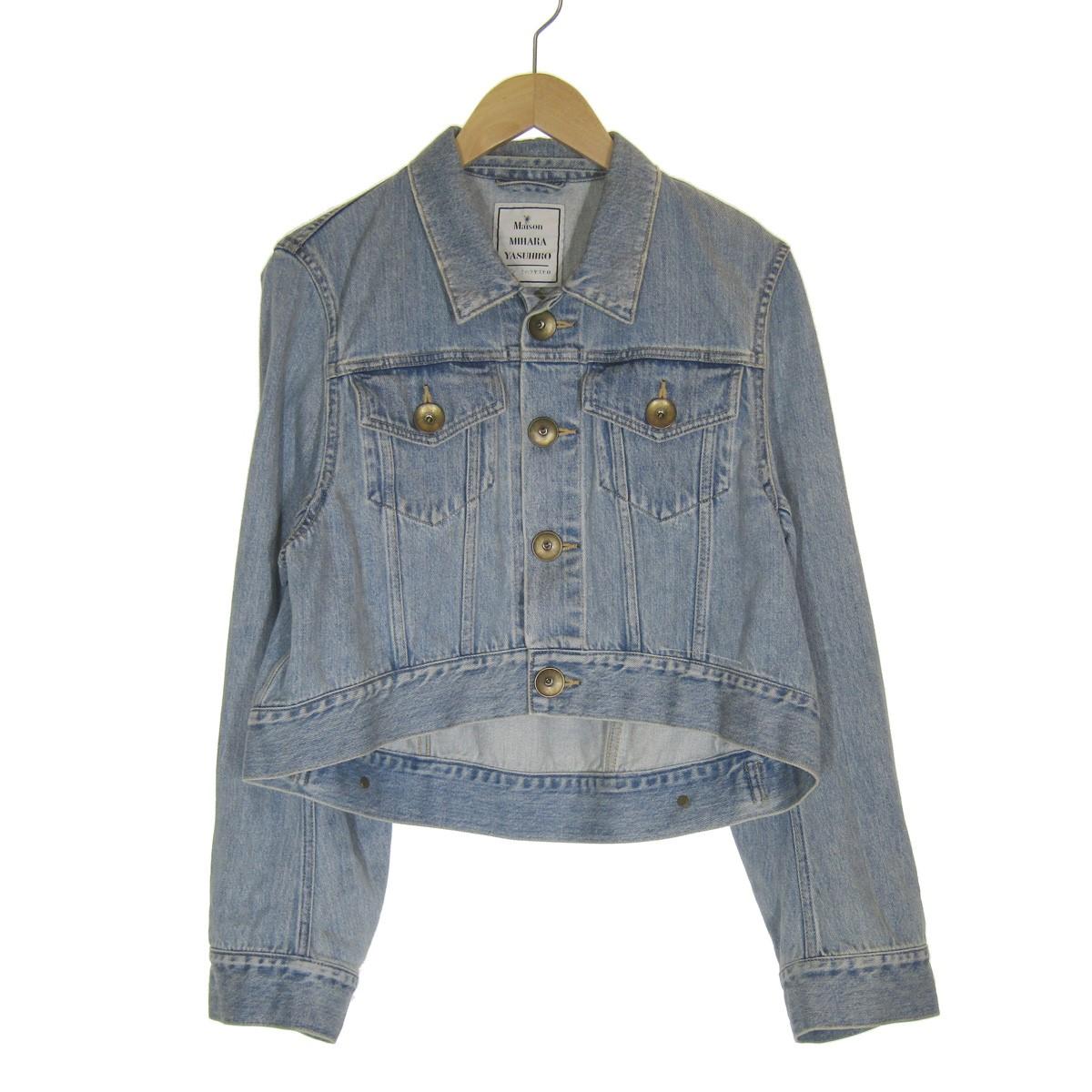 【中古】MAISON MIHARA YASUHIROオーバーデニムジャケット ブルー サイズ:Free