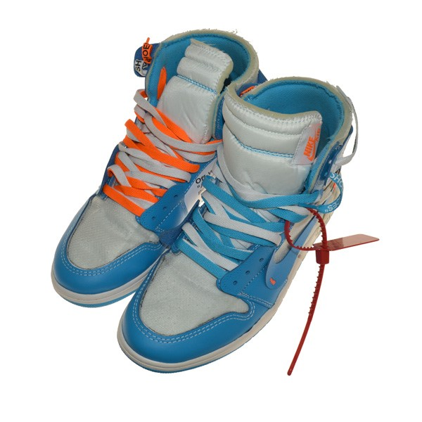 best service 8f745 63ebf NIKE X OFF WHITE AIR JORDAN 1 RETRO HIGH OG higher frequency elimination  sneakers sky blue size: 28. 5cm (Nike X off-white)