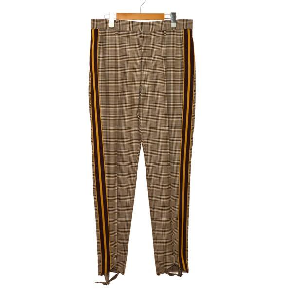 【11月28日 お値段見直しました】【中古】STELLA McCARTNEY19SS Parker Check Trousers チェックパンツ ブラウン サイズ:50
