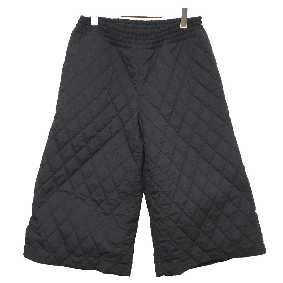【中古】DRESSDUNDRESSED キルティングワイドパンツ ブラック サイズ:3 【260719】(ドレスドアンドレスド)