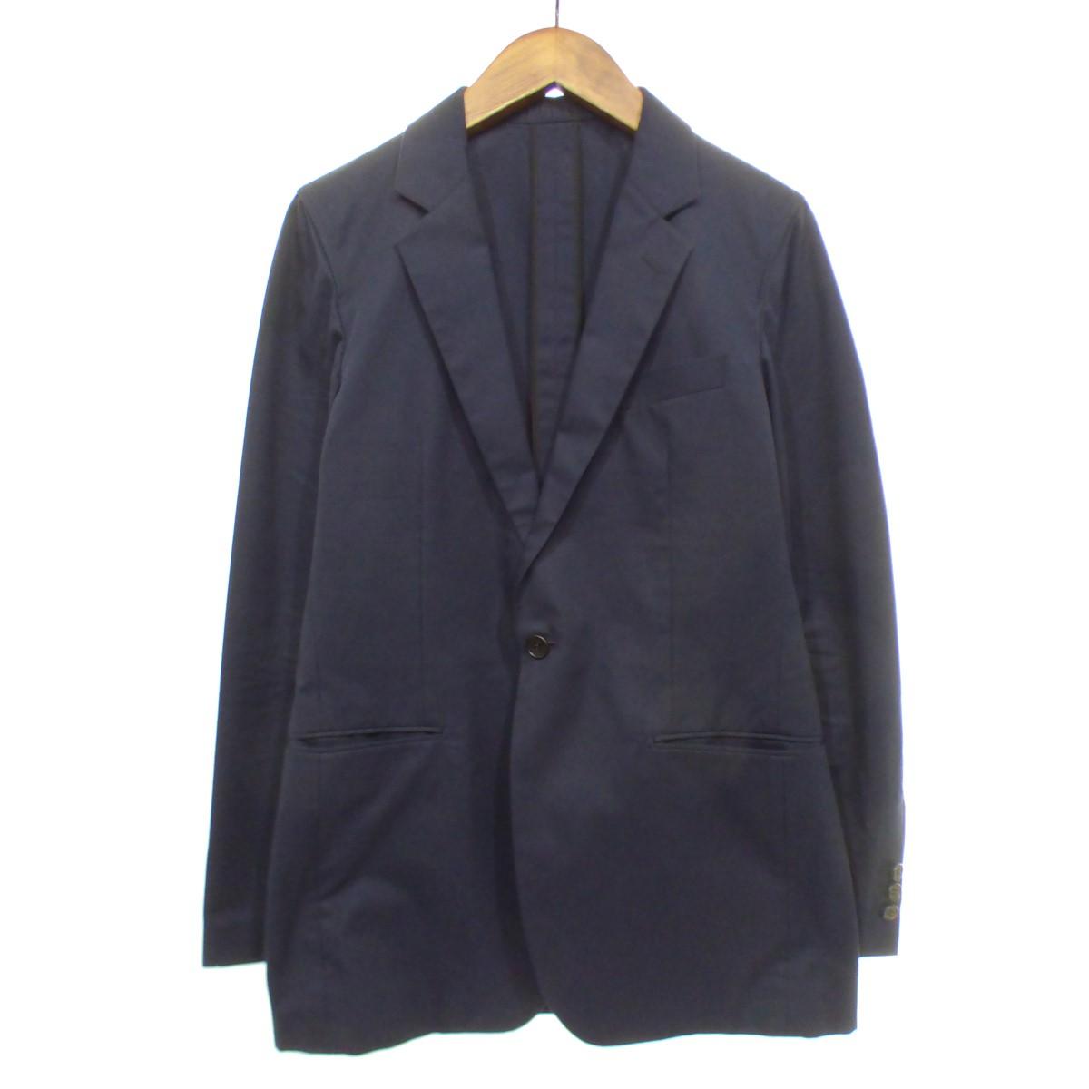 【中古】JOHN LAWRENCE SULLIVAN 1Bコットンテーラードジャケット ネイビー サイズ:38 【280719】(ジョンローレンスサリバン)