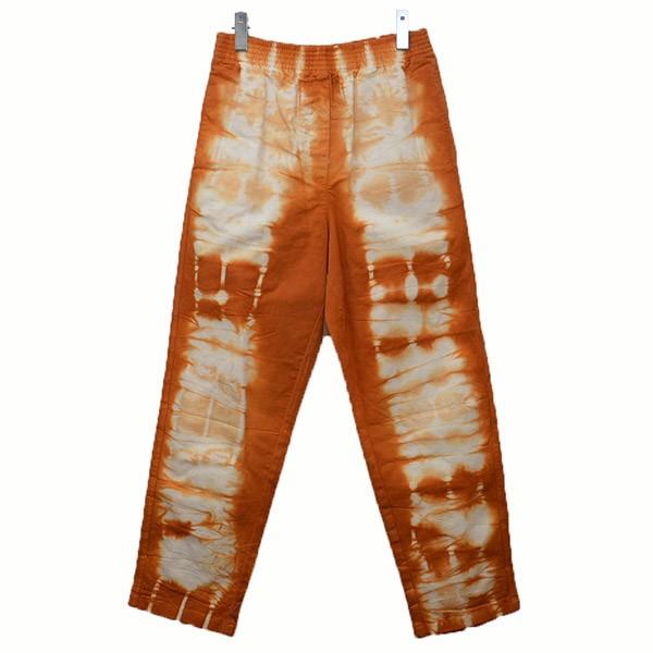 【10月17日 お値段見直しました】【中古】MM62016SS タイダイ染め イージーパンツ パンツ オレンジ×ホワイト サイズ:38