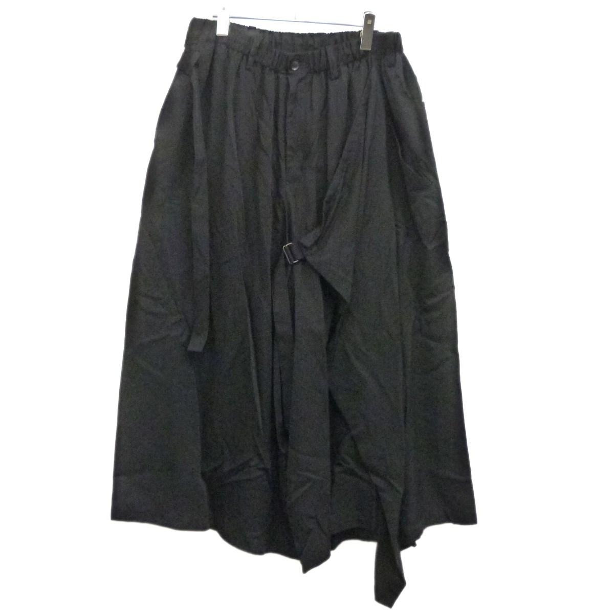 【中古】YOHJI YAMAMOTO pour hommeBLACK SCANDAL 19AW 太ラップパンツ ブラック サイズ:2 【4月23日見直し】