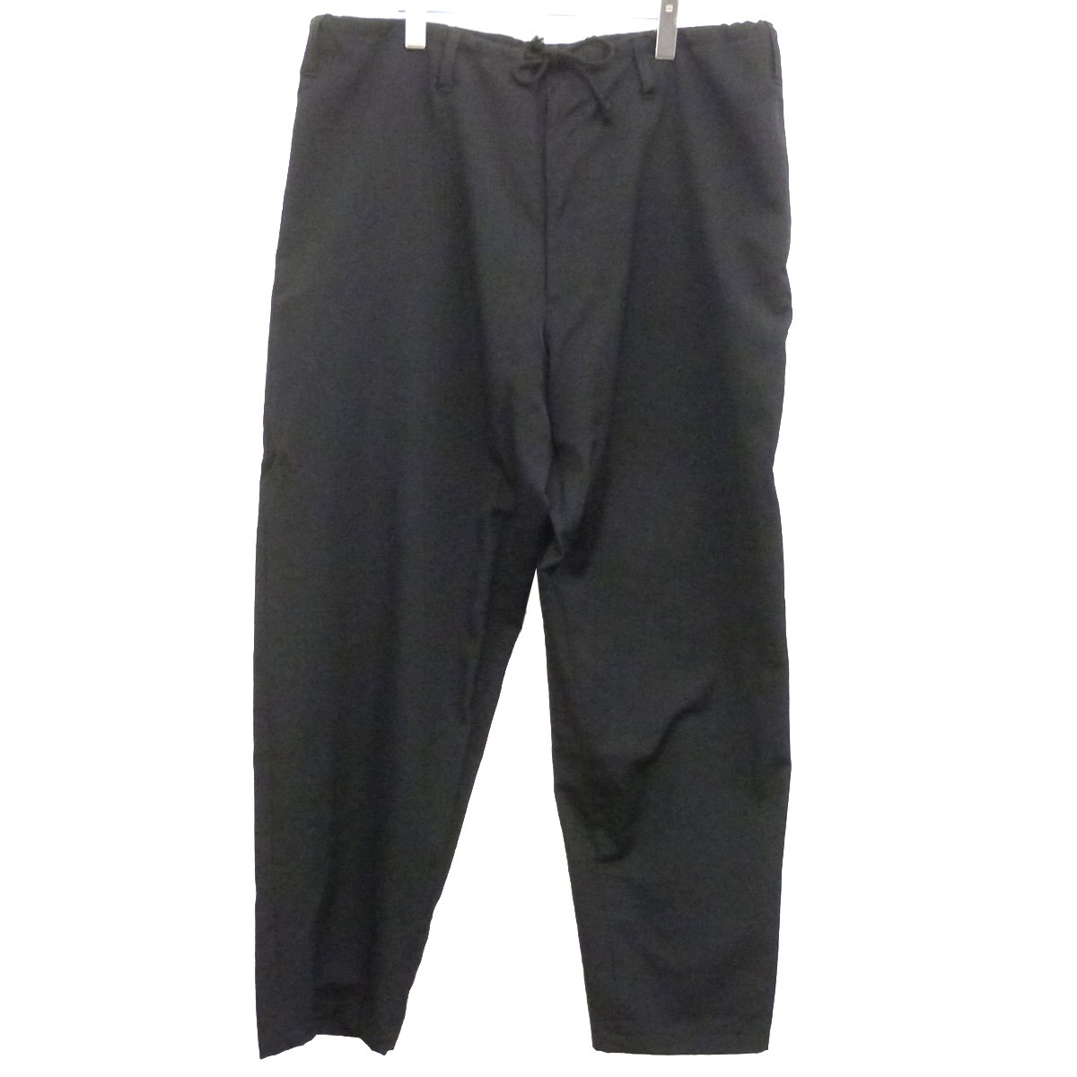 【中古】YOHJI YAMAMOTO pour homme 18AWウールギャバワイドパンツ ブラック サイズ:3 【100819】(ヨウジヤマモトプールオム)