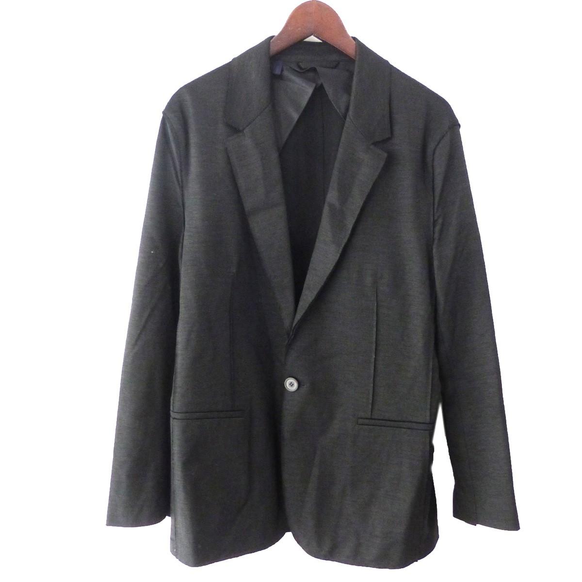 【中古】LANVIN ノッチドラペル1Bジャケット ブラック サイズ:50 【130819】(ランバン)