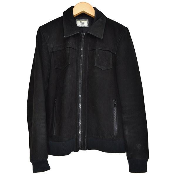 【中古】Rags McGREGOR SMALL POCKET LEATHER JACKETスモールポケットレザージャケット 2014AW ブラック サイズ:M 【160819】(ラグスマクレガー)