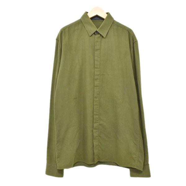【中古】HAIDER ACKERMANNレギュラーシャツ カーキ サイズ:S