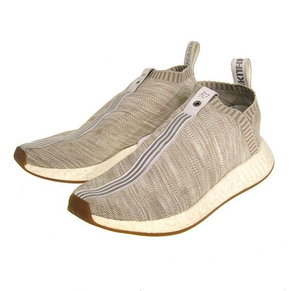 adidas consortium X KITH X NAKED NMD CS2 PK S. E. スニーカーノマドシティーソック 2 prime knit sand beige size: 27. 5cm (Adidas consortium kiss Naked)